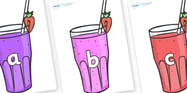 Phase 2 Phonemes on Smoothies - Phonemes, phoneme, Phase 2, Phase two, Foundation, Literacy, Letters and Sounds, DfES, display