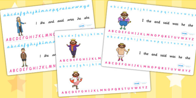 The Emperors New Clothes Alphabet Strips - a-z strip, visual aid