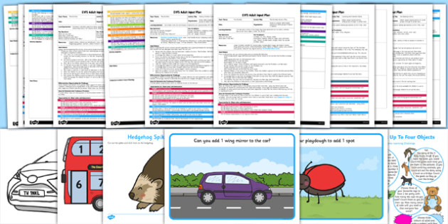 EYFS Counts Up to Three or Four Objects Adult Input Planning and Resource Pack