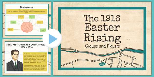 1916 Rising Powerpoint Groups and Personalities PowerPoint - Easter 1916 Rising, irish history, powerpoint, groups, personalities, irish volunteers, irish rebels