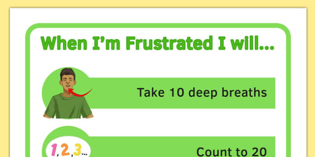 KS3 When Im Frustrated I Will Visual Support - ks3, when, frustrated, visual support