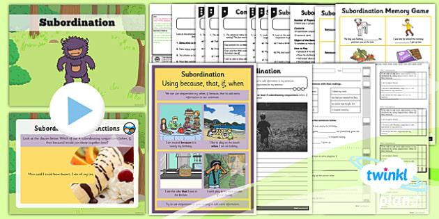PlanIt Y2 SPaG Lesson Pack: Subordination - conjunctions, subordination, subordinating conjunctions, joining sentences, clauses
