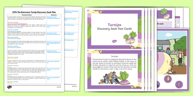 EYFS The Enormous Turnip Discovery Sack Plan and Resource Pack - discovery sack, enormous