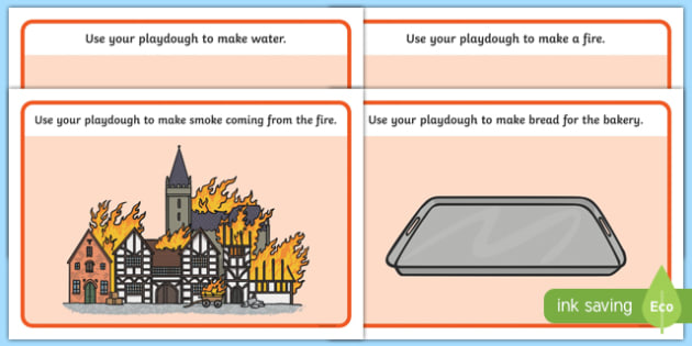 The Great Fire of London Playdough Mats