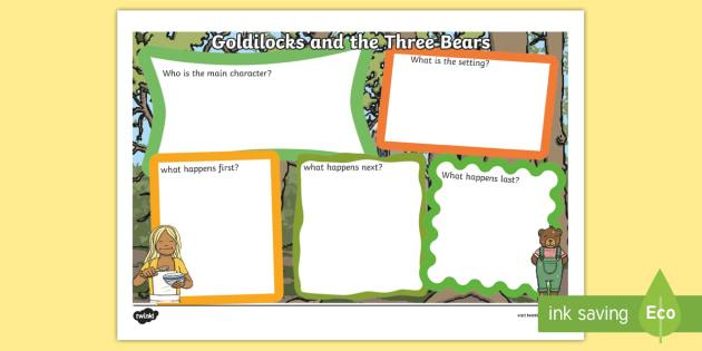 Goldilocks and the Three Bears Story Review Writing Frame - goldilocks and the three bears, goldilocks and the three bears book review, goldilocks review