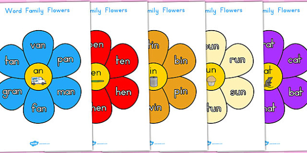Word Family Flowers - australia, word, family, flowers, flower