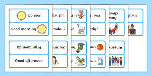 Word Cards for Bocs or Bag Helpwr Heddiw Nursery Reception bilingual resource - welsh, cymraeg, Word Cards, Welsh Second Language, Helpwr Heddiw