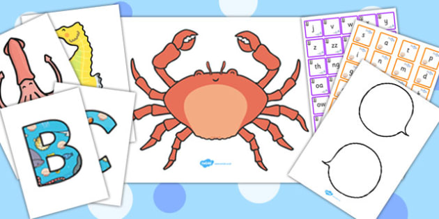 Under the Sea Phonemes Pack - under the sea, phonemes, pack