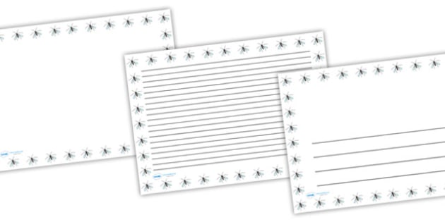 Crane Fly Full Page Borders (Landscape) - page borders, crane fly, crane fly page borders, minibeast page borders, landscape, A4, border for page, lined pages