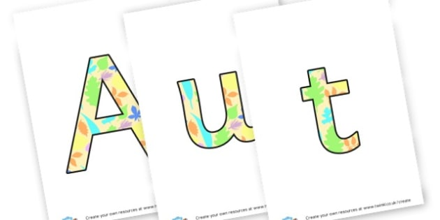 Autumn 1 display lettering - Autumn Display Primary Resources,Autumn,Primary,Display,Posters