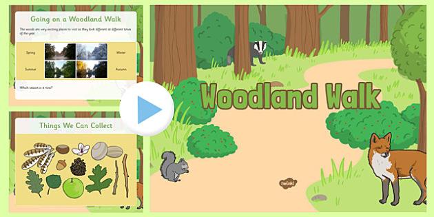 Woodland Walk EYFS PowerPoint - woodland walk, eyfs, powerpoint, woodland, walk