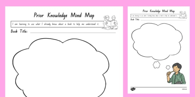 Prior Knowledge Mind Map Activity Sheet, worksheet