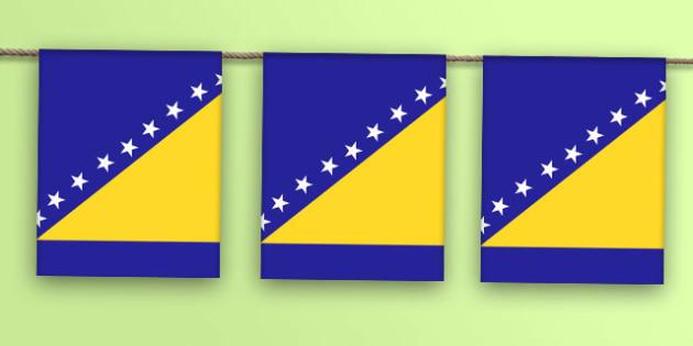 Bosnia and Herzegovina Flag Bunting - bosnia and herzegovina flag, bosnia and herzegovina, flag, display bunting, display, bunting