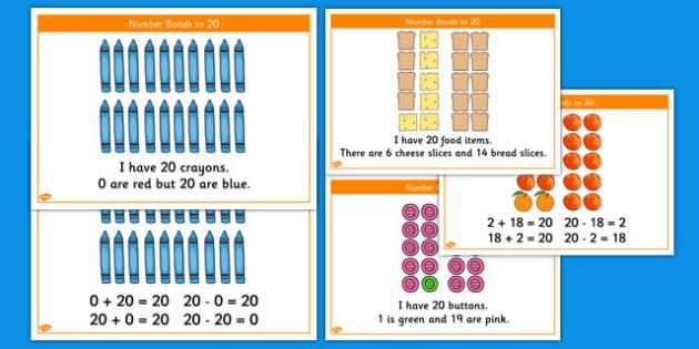 Number Bonds to 20 Stories - number bonds, 20, stories, number, bonds