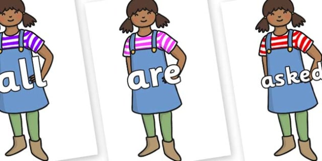 Tricky Words on Enormous Turnip Girl - Tricky words, DfES Letters and Sounds, Letters and sounds, display, words