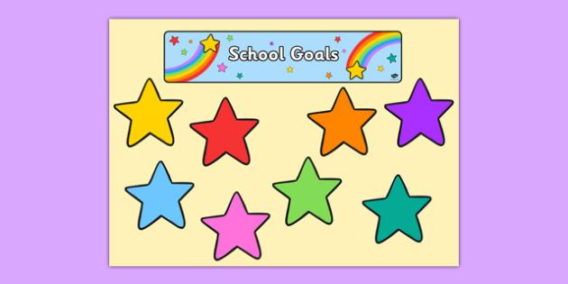 School Goals Display Pack - school goals, display pack, display, pack