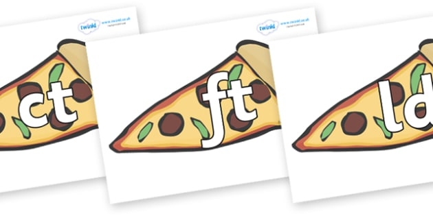 Final Letter Blends on Pizza - Final Letters, final letter, letter blend, letter blends, consonant, consonants, digraph, trigraph, literacy, alphabet, letters, foundation stage literacy
