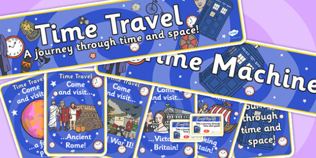 Time Machine Role Play Pack-time machine, role play, pack, role play pack, time machine pack, role play materials,time machine role play