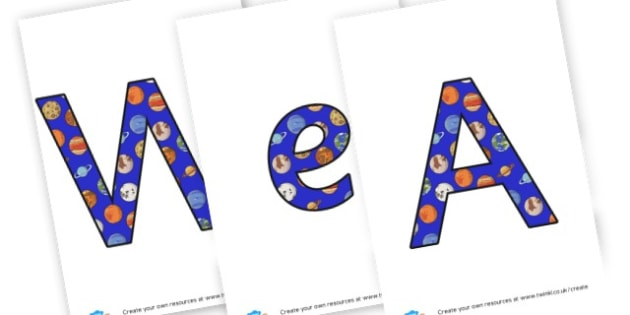 We are Astronauts! - Display Lettering - Space Display Primary Resources, Space, planets, Sun, moon, star