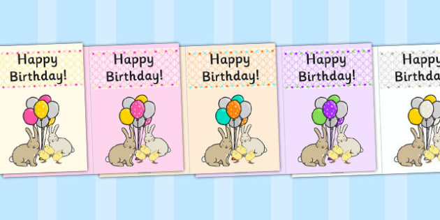 Easter Themed Birthday Cards - easter, birthday cards, birthday