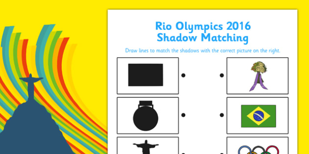 Rio Olympics 2016 Shadow Matching Worksheet - rio olympics, 2016 olympics, rio 2016, shadow matching, worksheet