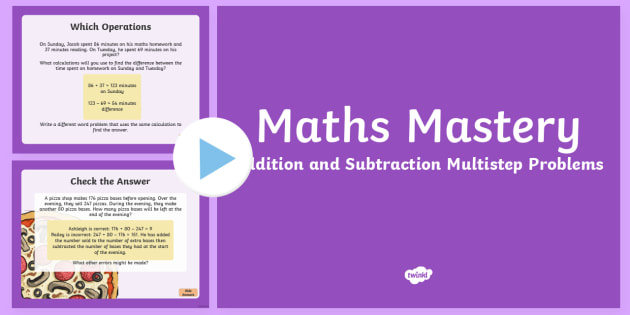 Year 5, Addition and Subtraction, Multistep Problems Maths Mastery Activities PowerPoint