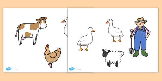 Farmer and Duck Stick Puppets - farmer duck, stick puppets, farmer duck puppets, puppets, themed puppets, farmer duck activites, themed activites, games