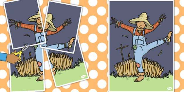 Large A2 Scarecrow Cut Out - a2, scarecrow, cut out, display