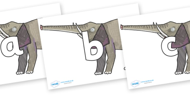 Phoneme Set on Elephant to Support Teaching on The Bad Tempered Ladybird - Phoneme set, phonemes, phoneme, Letters and Sounds, DfES, display, Phase 1, Phase 2, Phase 3, Phase 5, Foundation, Literacy
