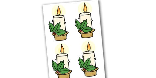Editable Christmas Candles - Christmas, xmas, candle, editable, tree, advent, nativity, santa, father christmas, Jesus, tree, stocking, present, activity, cracker, angel, snowman, advent , bauble