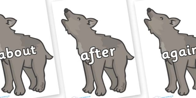 KS1 Keywords on Wolf Cubs - KS1, CLL, Communication language and literacy, Display, Key words, high frequency words, foundation stage literacy, DfES Letters and Sounds, Letters and Sounds, spelling