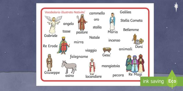 Mat English/Italian - Nativity Word Mat - Nativity, Christmas, xmas ...