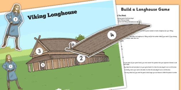 Build a Longhouse Game - build, longhouse, game, activity, house