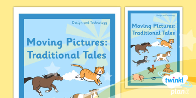 PlanIt - DT KS1 - Moving Pictures: Traditional Tales Unit Book Cover - planit, ks1, book cover, design and technology, dt, moving pictures, traditional tales