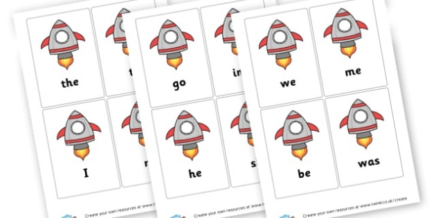 Space Tricky Words - Tricky Words Visual Aids Primary Resources, education, home school