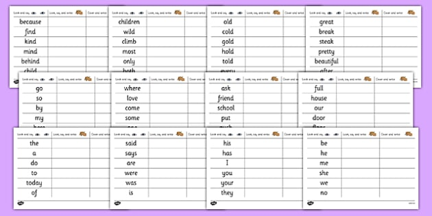 Common Exception Words Handwriting Practice - common exception words, handwriting, practice