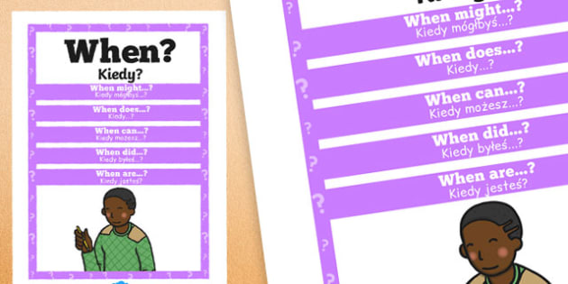 When Question Poster Polish Translation - posters, displays, display, questions