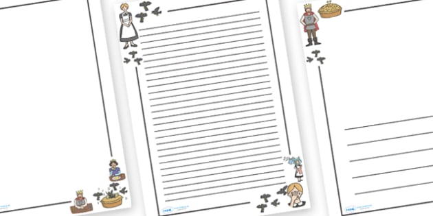 Sing a Song of Sixpence Page Borders - Sing a Song of Sixpence, nursery rhyme, Literacy, writing, page border, a4 border, template, writing aid, writing border, page template, rhyme, rhyming, nursery rhyme story, nursery rhymes, Sing a Song of Sixpen