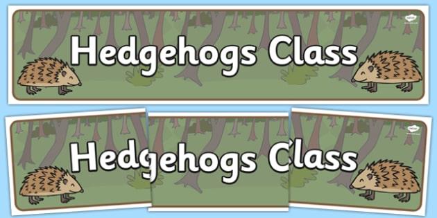 Hedgehogs Class Display Banner - hedgehog, class, autumn, sign, label, classroom