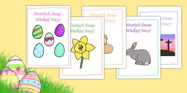 Kartki wielkanocne po polsku - Wielkanoc, święta