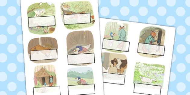 The Tale of Jemima Puddle-Duck Editable Self Registration - puddle-duck