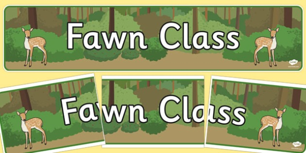 Fawn Class Display Banner - fawn, class, display banner, display