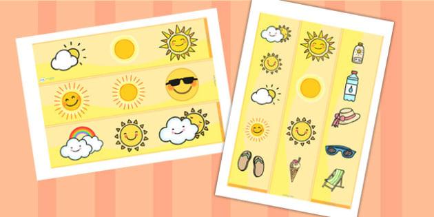 Sun Display Borders - sun, display, borders, display borders, classroom display borders, display board borders, sun themed borders, classrom display, display
