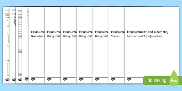 Year Three Measurement and Geometry Assessment Pack-Australia