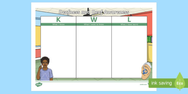 Deafness and Deaf Awareness KWL Grid