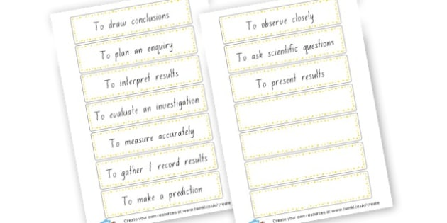 Science Prompt Cards - Science & Investigation Primary Resources, knowledge understanding