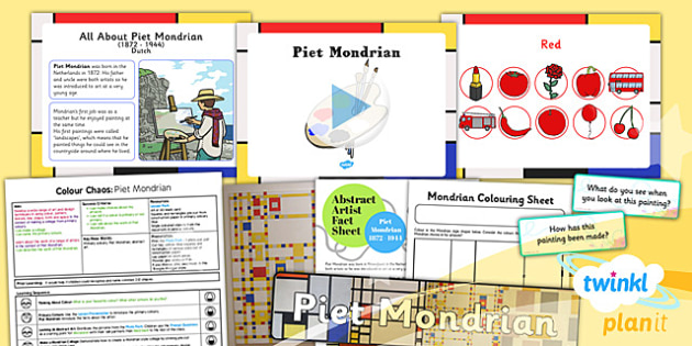 PlanIt - Art KS1 - Colour Chaos Lesson 1: Mondrian Lesson Pack