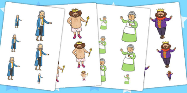 The Emperor's New Clothes Size Ordering - story books, order, sort