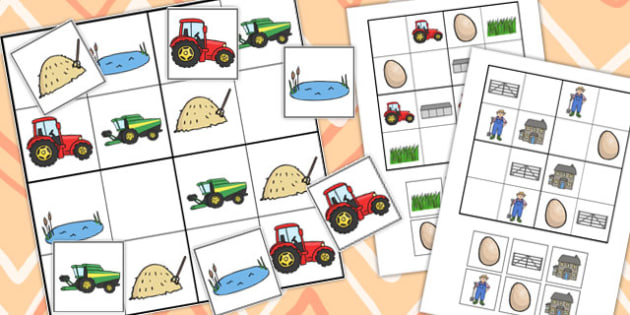 Farm Sudoku - Activity, Activities, Game, Games, Farms, Puzzle