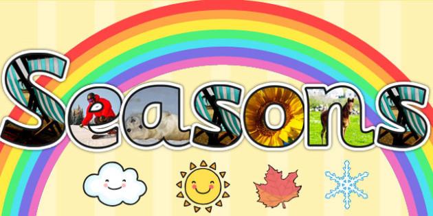 Seasons Photo Display Lettering - seasons, photo, display, letter